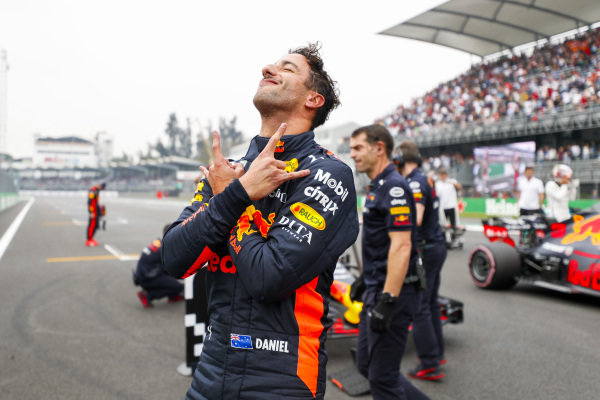 Pole man Daniel Ricciardo, Red Bull Racing, celebrates