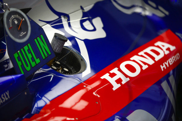 Honda branding on a Toro Rosso engine cover.