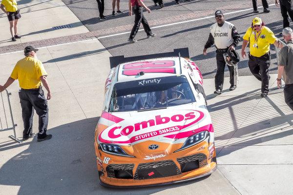 #18: Kyle Busch, Joe Gibbs Racing, Toyota Supra Combos drivers to victory lane
