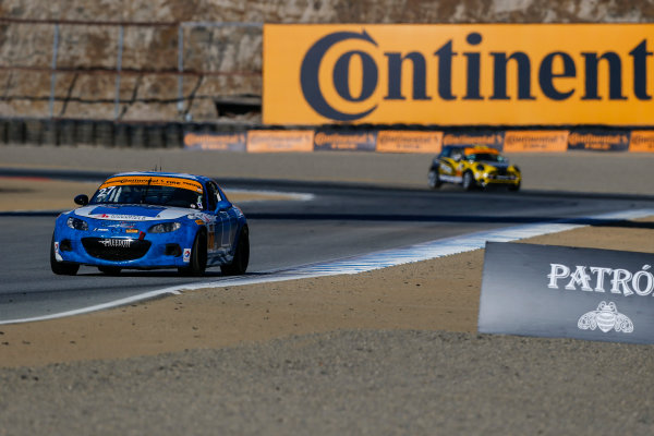 IMSA Continental Tire SportsCar Challenge Mazda Raceway Laguna Seca 240 Mazda Raceway Laguna Seca Monterey, CA USA Friday 22 September 2017 27, Mazda, Mazda MX-5, ST, Britt Casey Jr, Mark Drennan World Copyright: Jake Galstad LAT Images