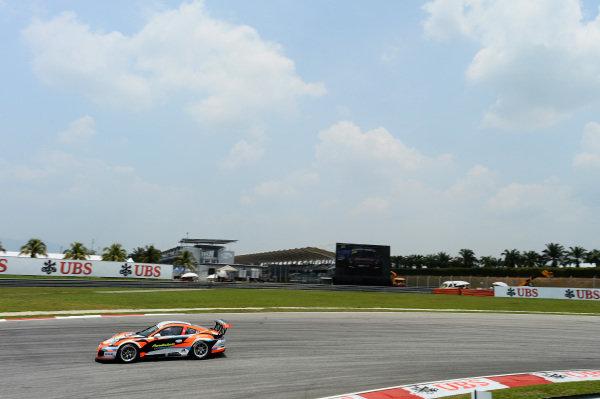 Samson Chang (HKG) Samson Chan. Porsche Carrera Cup Asia, Sepang, Malaysia, 28-30 March 2014.