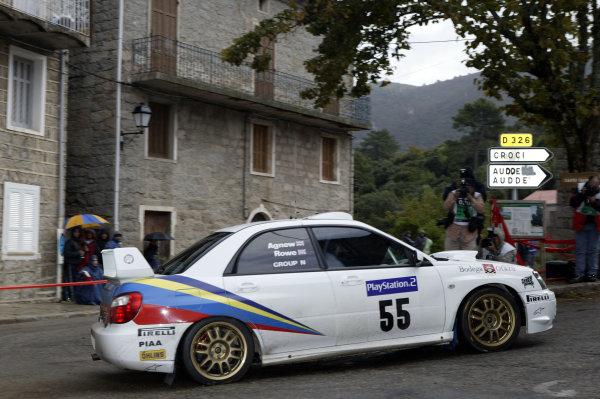 2003 FIA World Rally Champs. Round Twelve Corsica Rally 16th-19th October 2003.PMartin Rowe, Subaru, action. World Copyright: McKlein/LAT