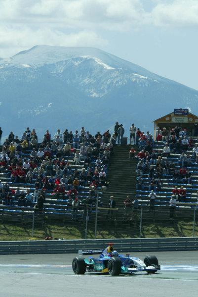 2003 Austrian Grand Prix, Friday Qualifying,A1 Ring, Austria.16th May 2003Nick Heidfeld, Sauber Petronas C22, action.World Copyright LAT Photographic.Digital Image Only.