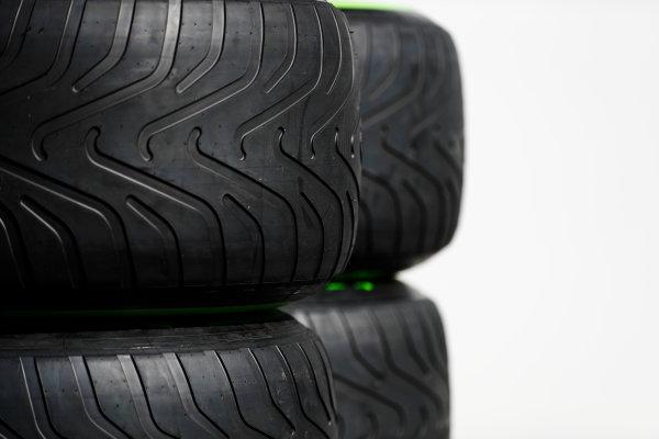 Autodromo Hermanos Rodriguez, Mexico City, Mexico. Thursday 26 October 2017. Pirelli tyres in the paddock. World Copyright: Zak Mauger/LAT Images  ref: Digital Image _31I5794