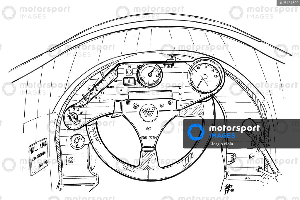 Williams FW11 1986 dashboard