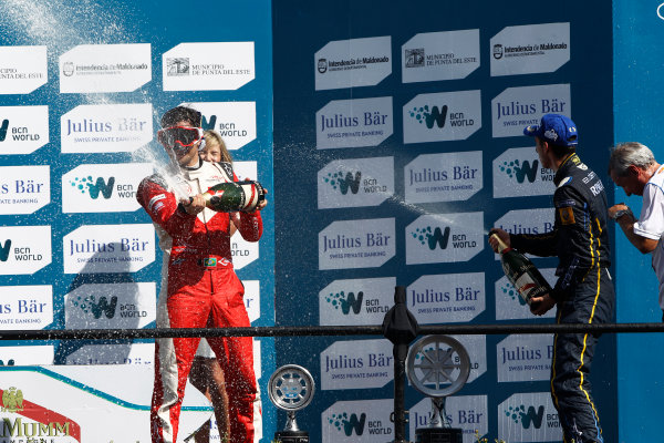 2014 Formula E  Punta Del Este e-Prix, Uruguay Saturday 13 December 2014. Nelson Piquet Jr (BRA)/China Racing - Spark-Renault SRT_01E  Photo: Sam Bloxham/LAT/Formula E ref: Digital Image _G7C6210