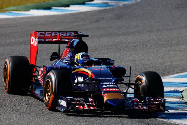 2015 F1 Pre Season Test 1 - Day 1 Circuito de Jerez, Jerez, Spain. Sunday 1 February 2015. Carlos Sainz Jr, Toro Rosso STR10 Renault. World Copyright: Alastair Staley/LAT Photographic. ref: Digital Image _79P9142