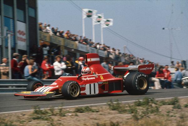 Zandvoort, Holland. 21-23 June 1974. Clay Regazzoni (Ferrari 312B3) 2nd position. Action. Ref: 74HOL01. World Copyright - LAT Photographic