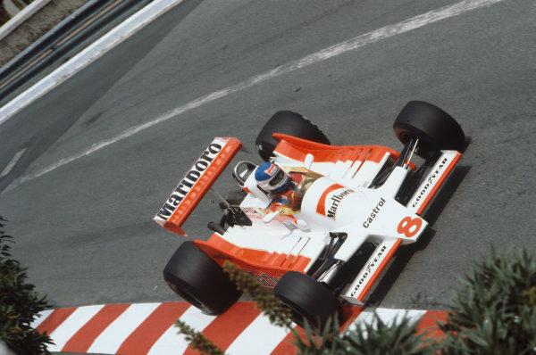 Monte Carlo, Monaco. 24-27 May 1979.  Patrick Tambay (McLaren M28 Ford), DNQ.  Ref: 79MON33. World Copyright: LAT Photographic