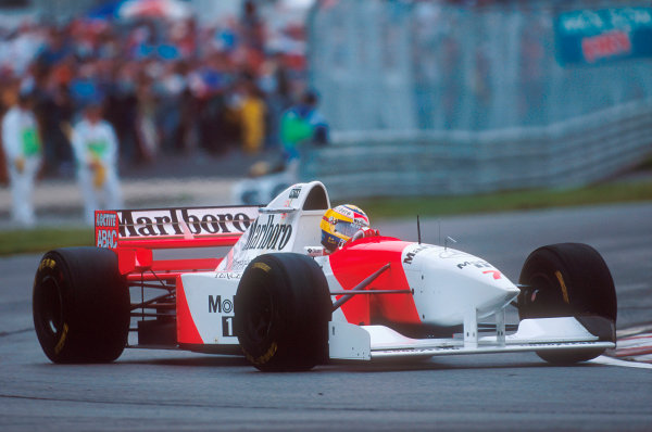 Montreal, Quebec, Canada.9-11 June 1995.Mark Blundell (McLaren MP4/10B Mercedes). He exited the race with an engine problem.Ref-95 CAN 15.World Copyright - LAT Photographic
