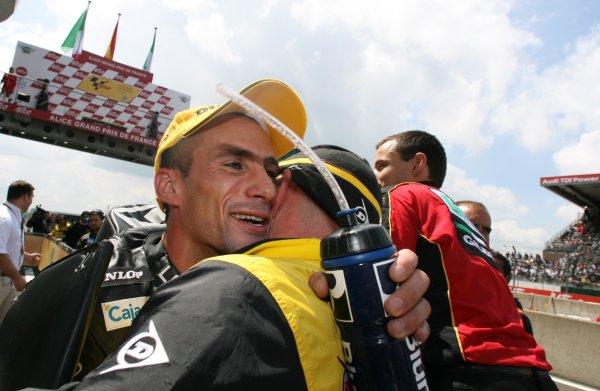 2008 MotoGP Championship - 250cc RaceLe Mans, France. 18th May, 2008.Alex Debon Lotus Aprilia winner of the 250cc race.World Copyright: Martin Heath / LAT Photographic