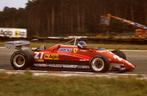 Hockenheim, Germany.6-8 August 1982.Patrick Tambay (Ferrari 126C2) 1st position.  World Copyright - LAT Photographic