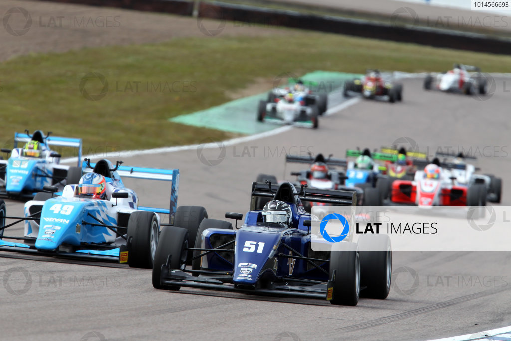 2016 BRDC British Formula 3 Championship, Rockingham, Northamptonshire.  30th April - 1st May 2016. Ameya Vaidyanathan (IND) Carlin BRDC F3. World Copyright: Ebrey / LAT Photographic.
