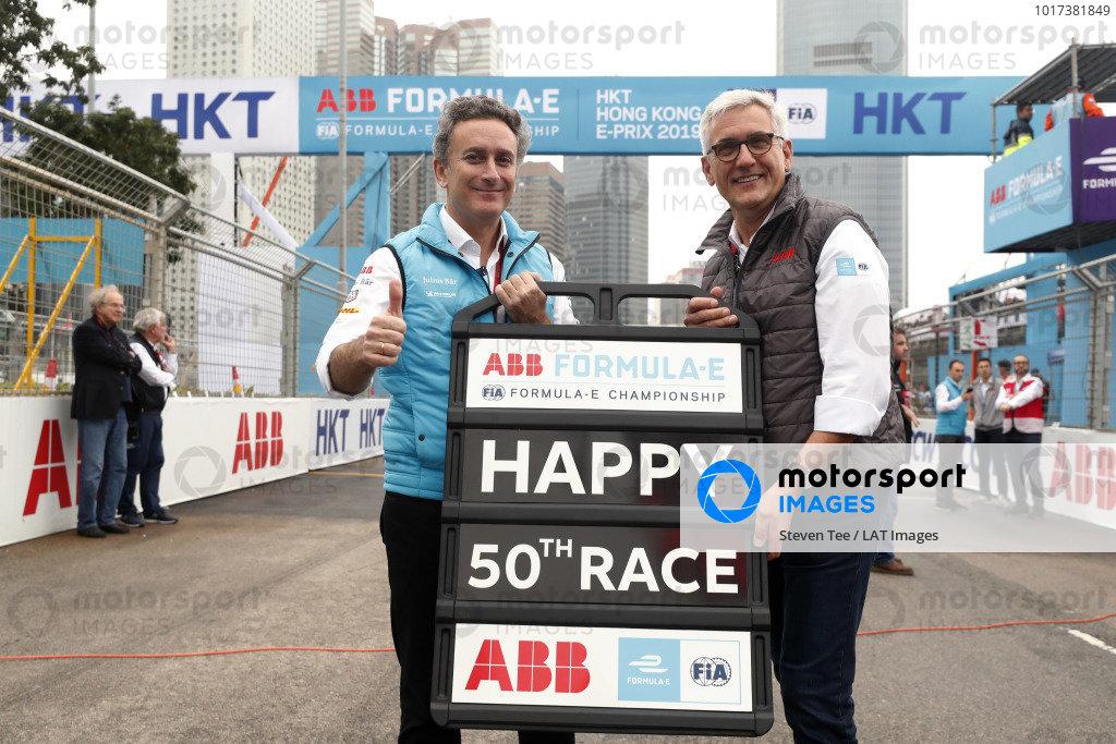 Alejandro Agag, CEO, Formula E, with Ulrich Spiesshofer, CEO, ABB
