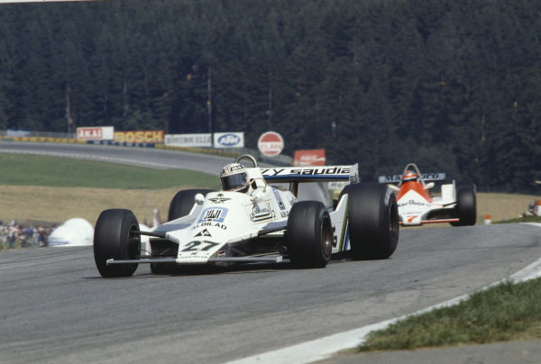 1979 Austrian Grand Prix.Osterreichring, Zeltweg, Austria.10-12 August 1979.Alan Jones (Williams FW07 Ford) 1st position.Ref-79 AUT 11.World Copyright - LAT Photographic