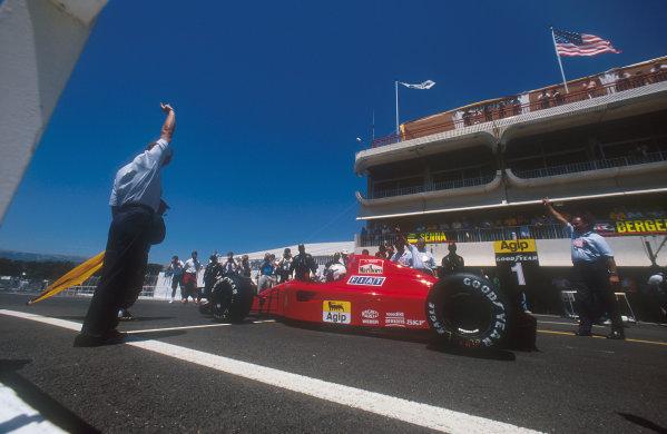 1990 French Grand Prix.Paul Ricard, Le Castellet, France.6-8 July 1990.Alain Prost (Ferrari 641) 1st position.Ref-90 FRA 11.World Copyright - LAT Photographic