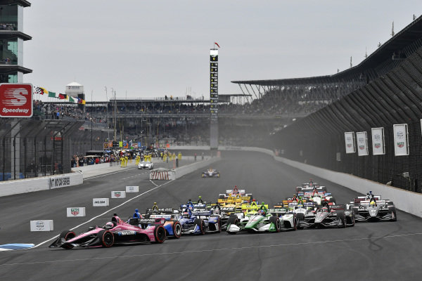 Jack Harvey, Meyer Shank Racing, Colton Herta, Harding Steinbrenner Racing Honda, start