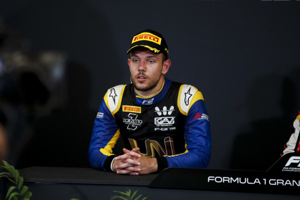 Luca Ghiotto (ITA, UNI VIRTUOSI) in the press conference