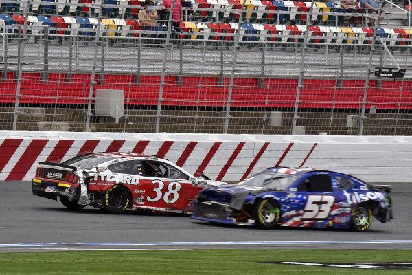 #38: John H. Nemechek, Front Row Motorsports, Ford Mustang Citgard, #53: James Davison, Rick Ware Racing, Chevrolet Camaro