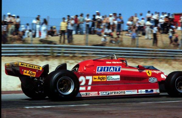 1981 Spanish Grand Prix.Jarama, Madrid, Spain.28-31 May 1981.Gilles Villeneuve (Ferrari 126CK) 1st position.World Copyright - LAT Photographic