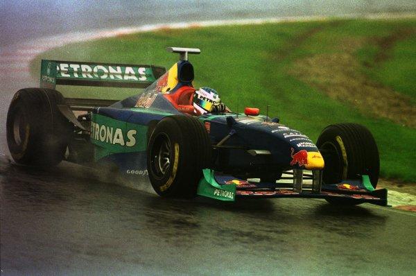 1998 Belgian Grand Prix.Spa-Francorchamps, Belgium. 28-30 August 1998.Jean Alesi (Sauber C16 Petronas Ferrari) 3rd position.World Copyright - Etherington/LAT Photographic