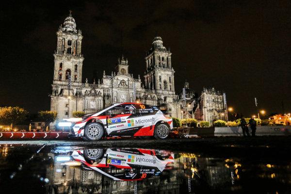 Jari-Matti Latvala (FIN) / Miikka Anttila (FIN), Toyota Gazoo Racing Toyota Yaris WRC at World Rally Championship, Rd3, Rally Mexico, SS1, Leon, Mexico, 9 March 2017.