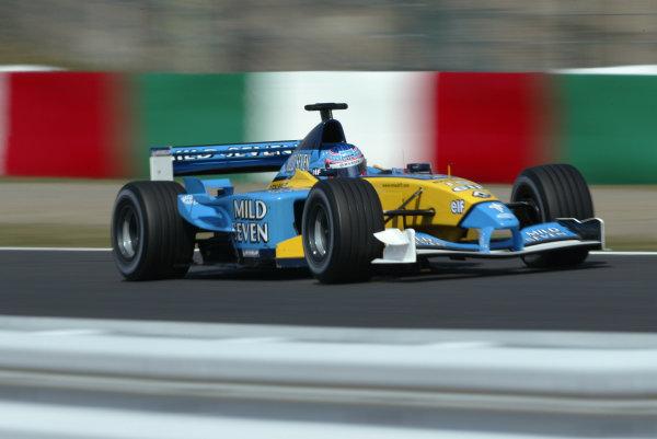 2002 Japanese Grand Prix.Suzuka, Japan. 11-13 October 2002.Jenson Button (Renault R202) 6th position.World Copyright - LAT Photographic/Steve Etheringtonref: Digital File Only