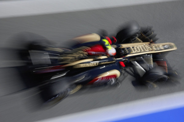 Romain Grosjean, Lotus E21 Renault.