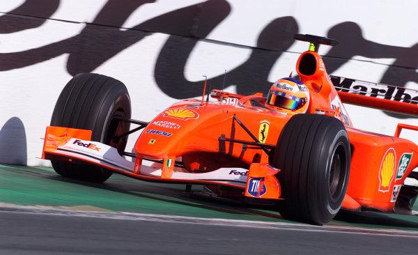 2001 Canadian Grand Prix - Race.Montreal, Canada. 10th June 2001.Rubens Barrichello, Ferrari F2001, action.World Copyright: Steve Etherington/LAT Photographic.ref: 18mb Digital Image Only