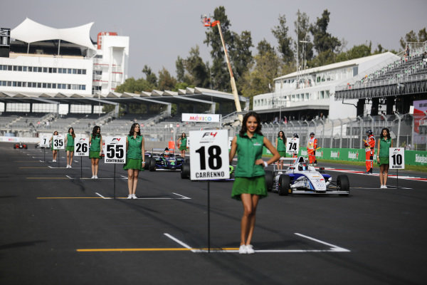 Grid and girls at Formula 4 Series, Circuit Hermanos Rodriguez, Mexico City, Mexico, 30 October 2016.