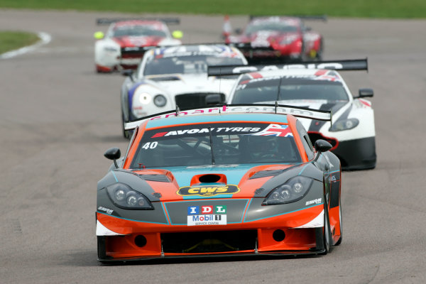 2014 Avon Tyres British GT Championship, Rockingham Motor Speedway, Northamptonshire. 4th - 5th May 2014.  Colin White / Tom Sharp IDL CWS Ginetta G55 GT3. World Copyright: Ebrey / LAT Photographic.