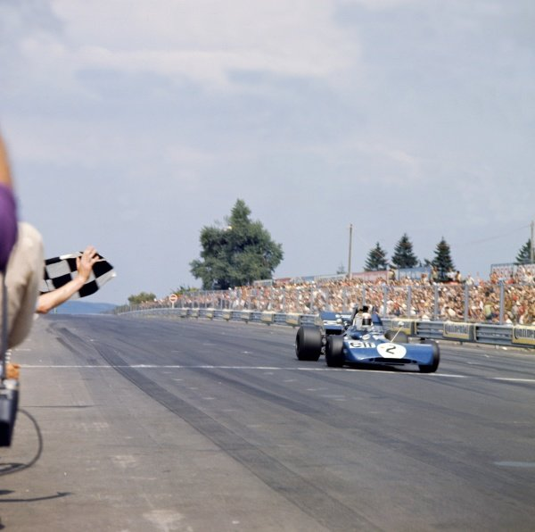1971 German Grand Prix.Nurburgring, Germany. 30 July-1 August 1971.Jackie Stewart (Tyrrell 003-Ford Cosworth), 1st position.World Copyright: LAT PhotographicRef: 4725J
