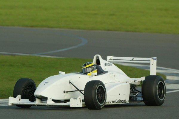 Stephen Simpson (GBR) tests a Formula Renault for Team JLR