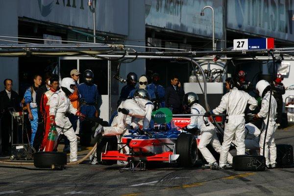 2007 Formula Nippon ChampionshipSuzuka Circuit, Japan17th - 18th November 2007Tony Kanaan (Kanaan Racing). Pitstop.World Copyright: Yasushi Ishihara/LAT Photographicref: Digital Image 2007FN_R9_028