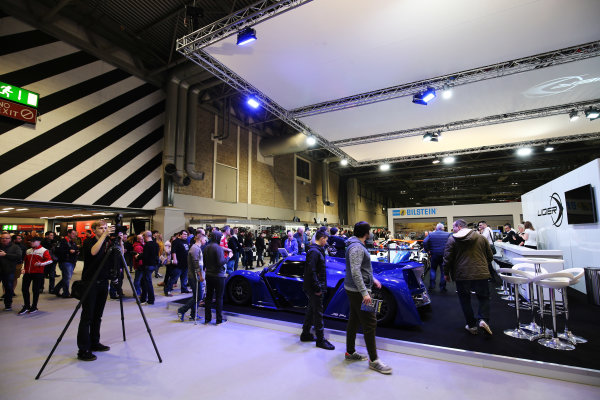 Autosport International Exhibition. National Exhibition Centre, Birmingham, UK. Saturday 13th January 2018. Visitors walk past the Ligier stand.World Copyright: Jakob Ebrey/LAT Images Ref: JR2_4359