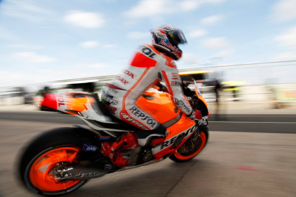 British Grand Prix.  Silverstone, England. 30th August - 1st September 2013.  Marc Marquez, Honda.  Ref: _MG_4837a. World copyright: Kevin Wood/LAT Photographic
