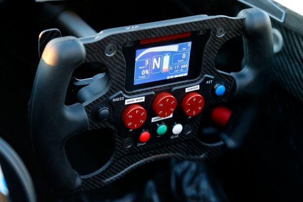 5-6 January, 2014, Las Vegas, Nevada USA Steering wheel of the Spark-Renault SRT_01E Formula E car ©2014, Lesley Ann Miller LAT Photo USA