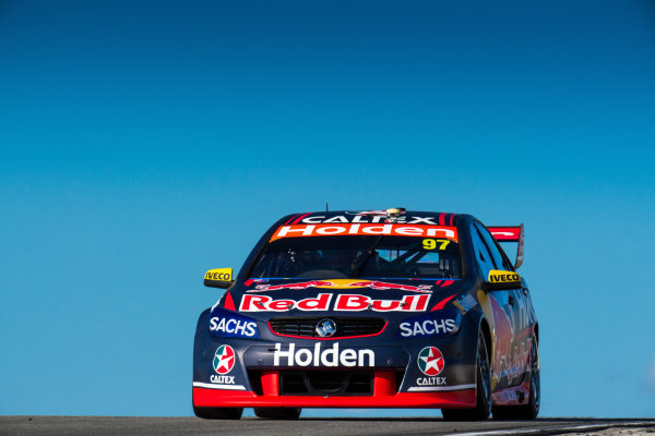 2017 Supercars Championship Round 4.  Perth SuperSprint, Barbagallo Raceway, Western Australia, Australia. Friday May 5th to Sunday May 7th 2017. Shane Van Gisbergen drives the #97 Red Bull Holden Racing Team Holden Commodore VF. World Copyright: Daniel Kalisz/LAT Images Ref: Digital Image 050517_VASCR4_DKIMG_1405.JPG