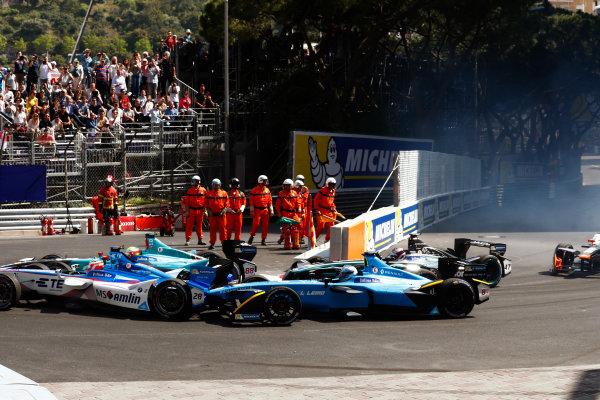 2016/2017 FIA Formula E Championship. Monte-Carlo, Monaco Saturday 13 May 2017. Start Photo: Sam Bloxham/LAT/Formula E ref: Digital Image _W6I6276