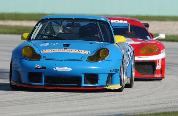 18-19 September, 2004, Homestead-Miami Speedway, Homestead, Florida, USATom Nastasi driving the Racers Group Porsche GT3 RS machine staying ahead of the GT 360 Ferrari.C: 2004, Denis L. Tanney, USA LAT Photographic