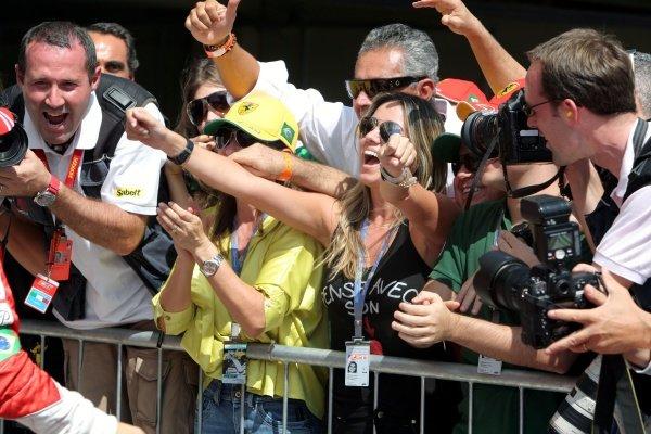Family of Felipe Massa (BRA) Ferrari. Formula One World Championship, Rd17, Brazilian Grand Prix, Qualifying Day, Interlagos, Sao Paulo, Brazil, Saturday 20 October 2007.