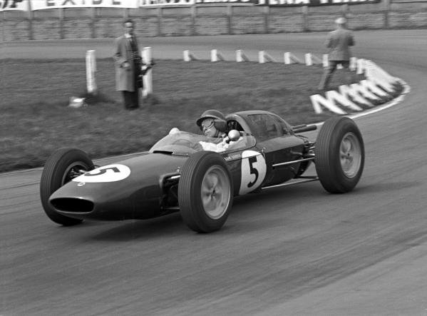 BARC 200, Aintree, 29th April1962 Winner Jim Clark (GBR) Lotus 24 on his way to Victory, and fastest lap