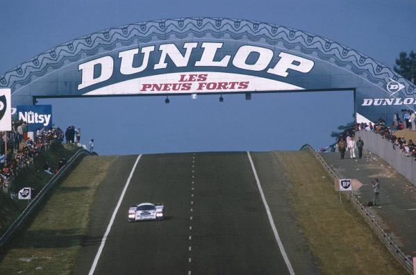 Le Mans, France. 18-19 June 1983.Jacky Ickx/Derek Bell (Porsche 956), 2nd position, action. World Copyright: LAT Photographic.Ref:  83LM