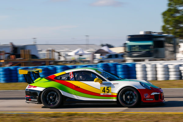 2017 Porsche GT3 Cup USA Sebring International Raceway, Sebring, FL USA Wednesday 15 March 2017 45, Charles Luck IV, GT3G, USA, 2016 Porsche 991 World Copyright: Jake Galstad/LAT Images ref: Digital Image lat-galstad-SIR-0317-14870