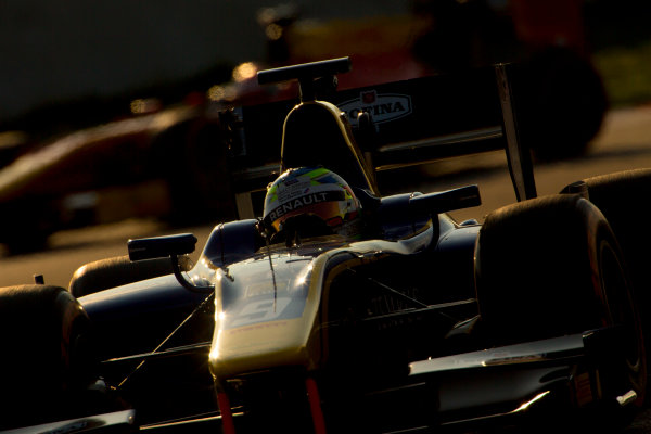 Circuit de Barcelona Catalunya, Barcelona, Spain. Monday 13 March 2017. Oliver Rowland (GBR, DAMS). Action.  Photo: Alastair Staley/FIA Formula 2 ref: Digital Image 585A7575