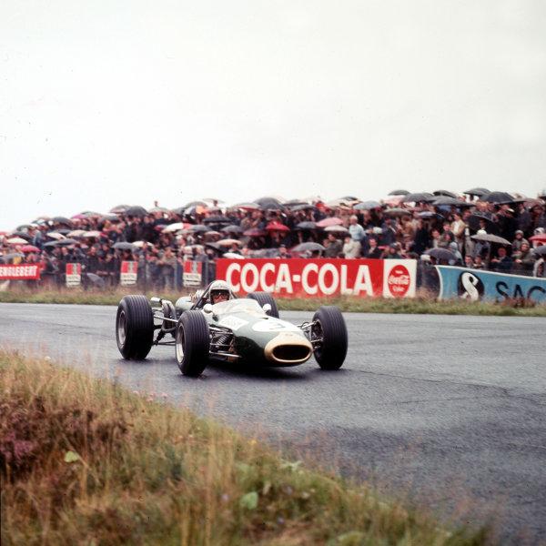 Nurburgring, Germany.5-7 August 1966.Jack Brabham (Bracham BT19 Repco) 1st position.Ref-3/2414.World Copyright - LAT Photographic