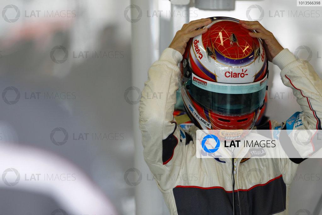 Albert Park, Melbourne, Australia 25th March 2011. Kamui Kobayashi, Sauber C30 Ferrari. Portrait. Helmets.  World Copyright: Andrew Ferraro/LAT Photographic ref: Digital Image _Q0C7262