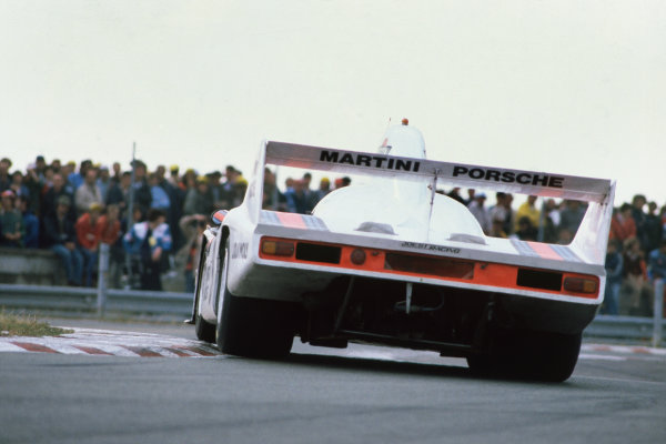 1980 Le Mans 24 Hours. Le Mans, France. 14th - 15th June 1980. Jacky Ickx / Reinhold Joest (Porsche 908/80 Turbo), 2nd position, action.    World Copyright: LAT Photographic. Ref: 80LM26.