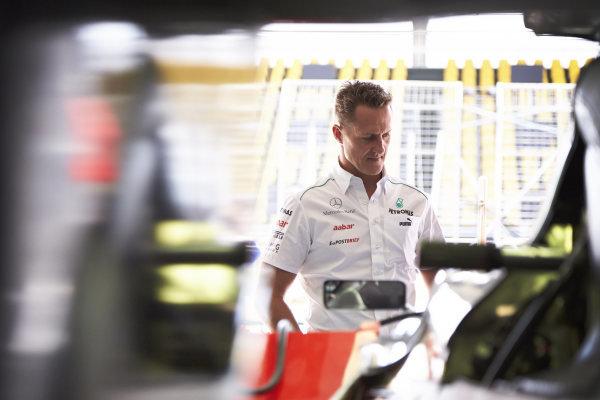 l Thursday 22nd November 2012. Michael Schumacher, Mercedes AMG.  World Copyright: Steve Etherington/c ref: Digital Image SNE28807 copy