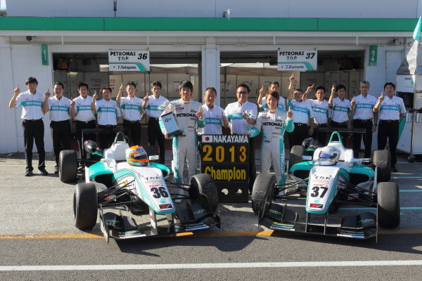 Sportsland Sugo, Japan. 28th - 29th September 2013. Rd 12 & 13. 2013 Driver's Champion  Yuichi Nakayama ( #36 PETRONAS TEAM TOM'S ) portrait  World Copyright: JAPANESE FORMULA 3 ASSOCIATION Ref: 2013JF3_Rd12-13_019